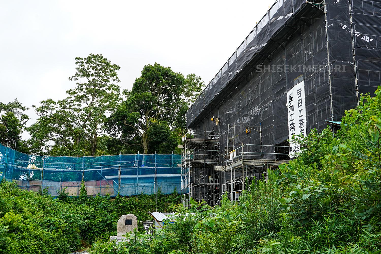 水戸城復元中の大手門(二の丸側から)