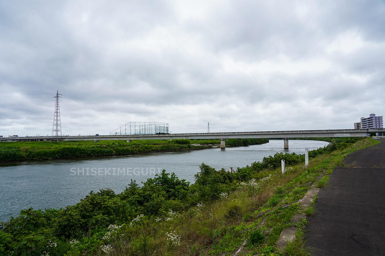 水戸城近くを流れる那珂川